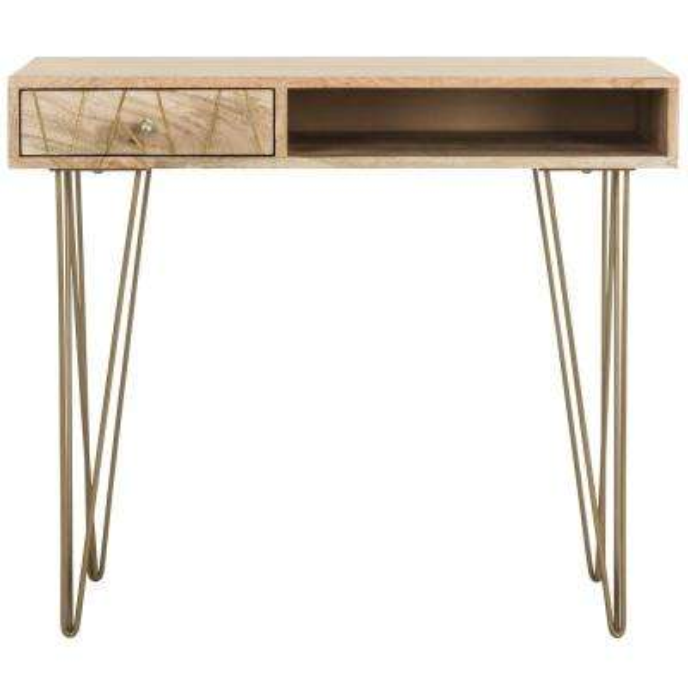 Marigold Natural Desk with Drawer