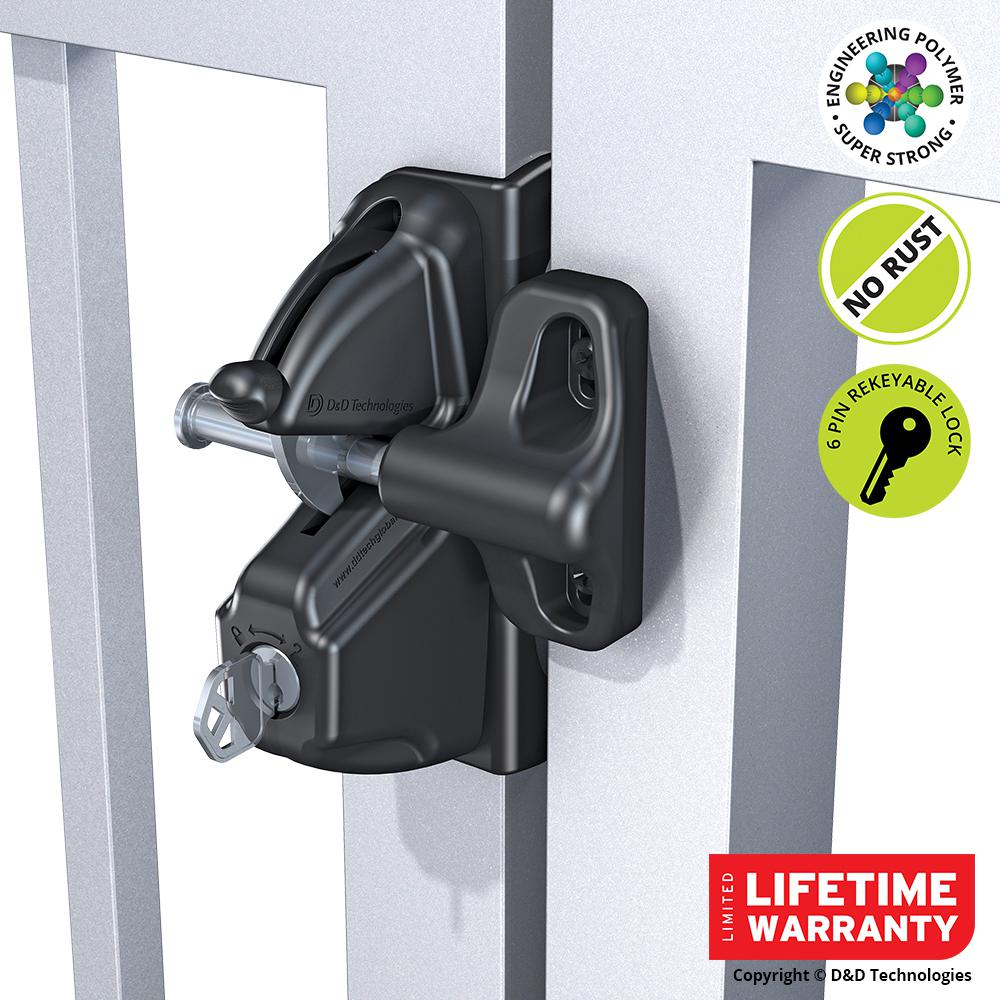 Fence Gate Latches 6 Pin Security Locks Dual Access
