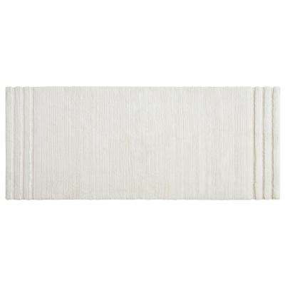 Empress 24 in. x 60 in. Cotton Runner Bath Rug in Parchment