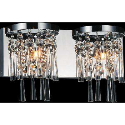 Blissful 2-Light Chrome Sconce