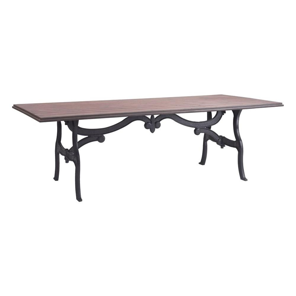 Zuo Bellevue Distressed Natural Dining Table