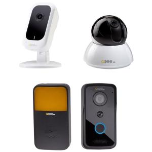 Q-SEE 3MP Wi-Fi Mini Camera with 16GB SD Card 4MP Wi-Fi Point/Tilt Camera and... by Q-SEE