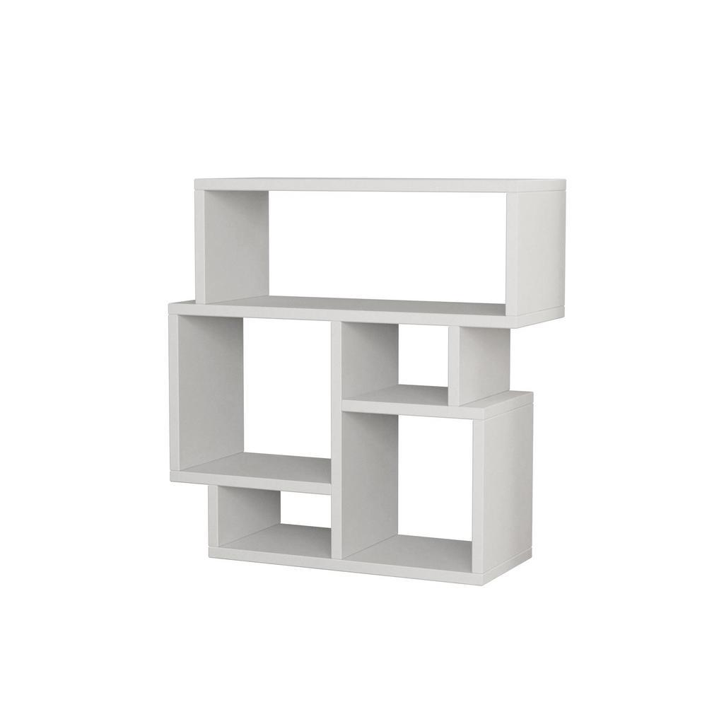 Ada Home Decor Schultz White Modern Side Table DCRS2081