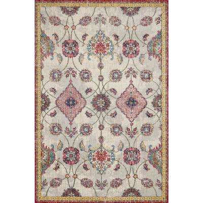 Dreamweaver Ivory Layla 9 ft. x 13 ft. Distressed Area rug