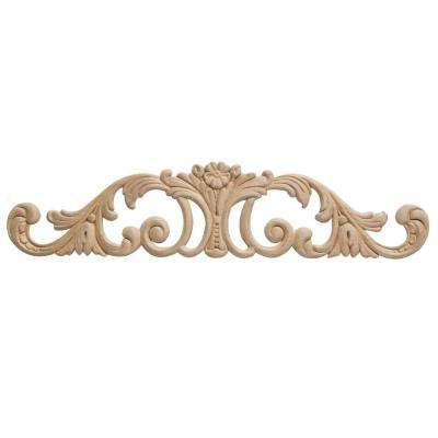 DM 3605 - 2-7/8 in. x 1/4 in. x 12-3/4 in. Birch Applique Moulding for Walls and Mantels