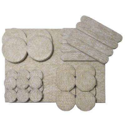 Assorted Self-adhesive Felt Pads (33-Pack)