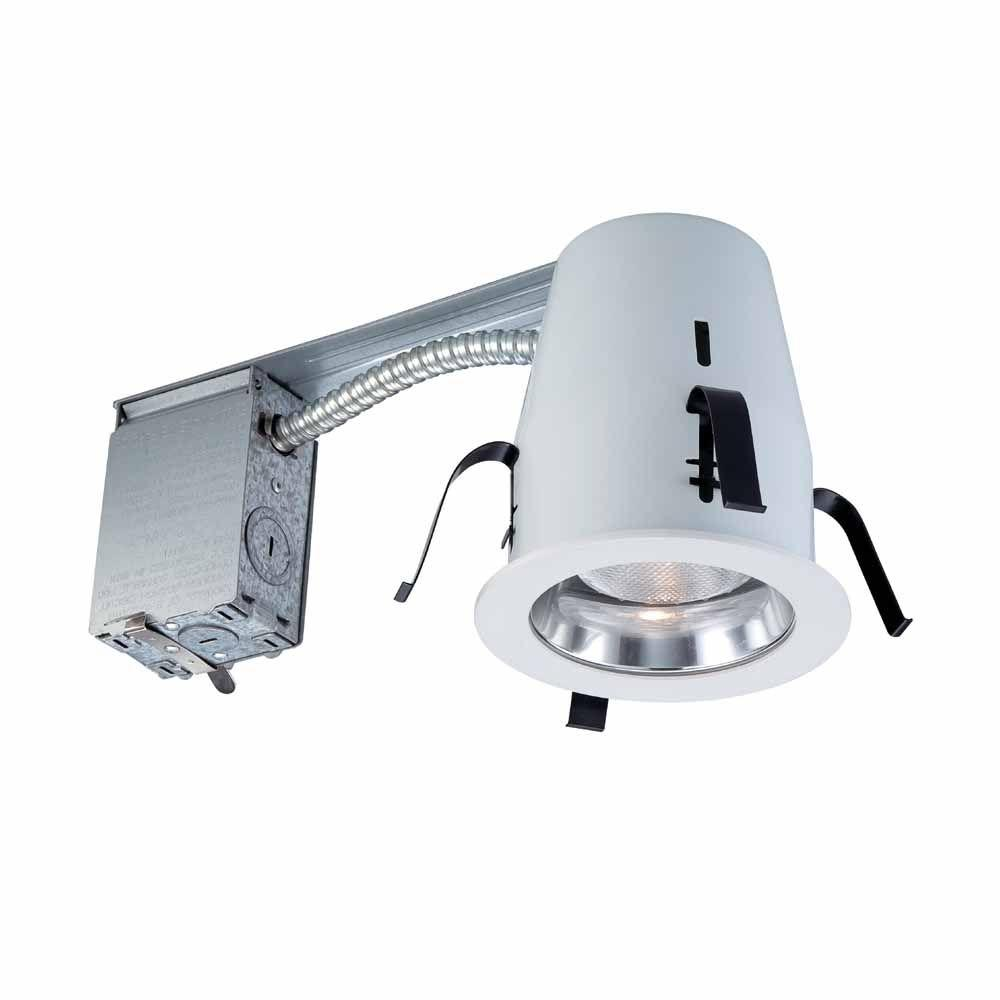 Commercial Electric 4 in. Chrome Non-IC Remodel Recessed Lighting Kit