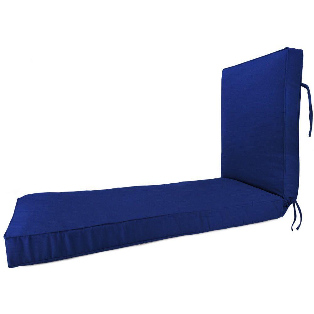 Sunbrella Blue Outdoor Chaise Lounge Cushion