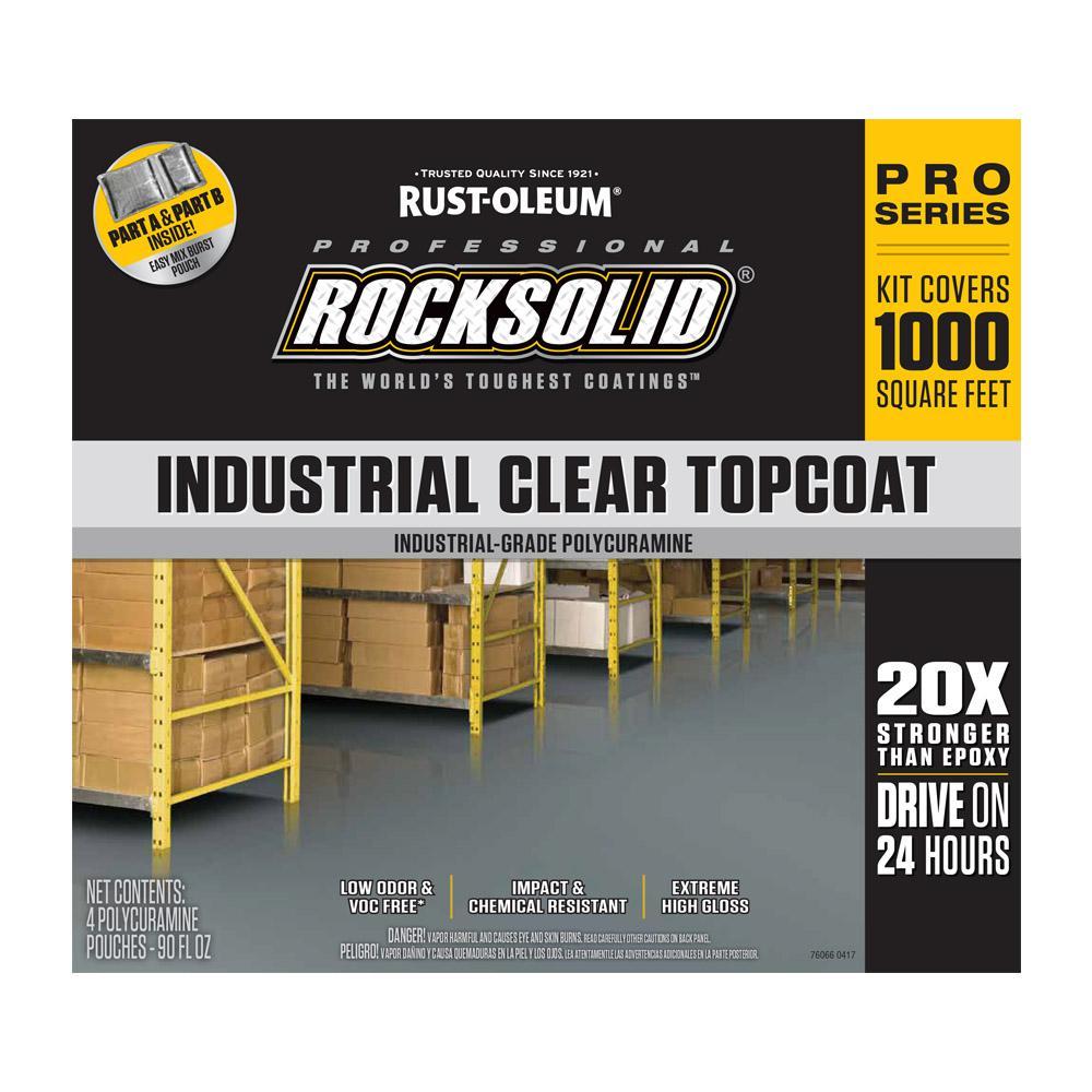 Rust Oleum Rocksolid 360 Oz Clear Top Coat