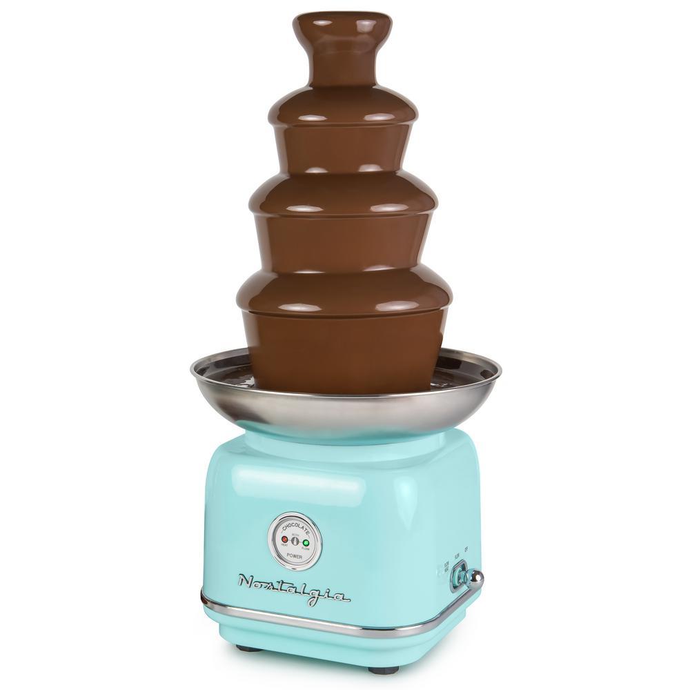 4-Tier Aqua Chocolate Fondue Fountain