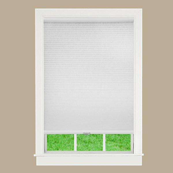 Perfect Lift Window Treatment Cut To Width White Cordless Light Filtering Cellular Shade 59 In W X 72 In L Qcwt590720 The Home Depot