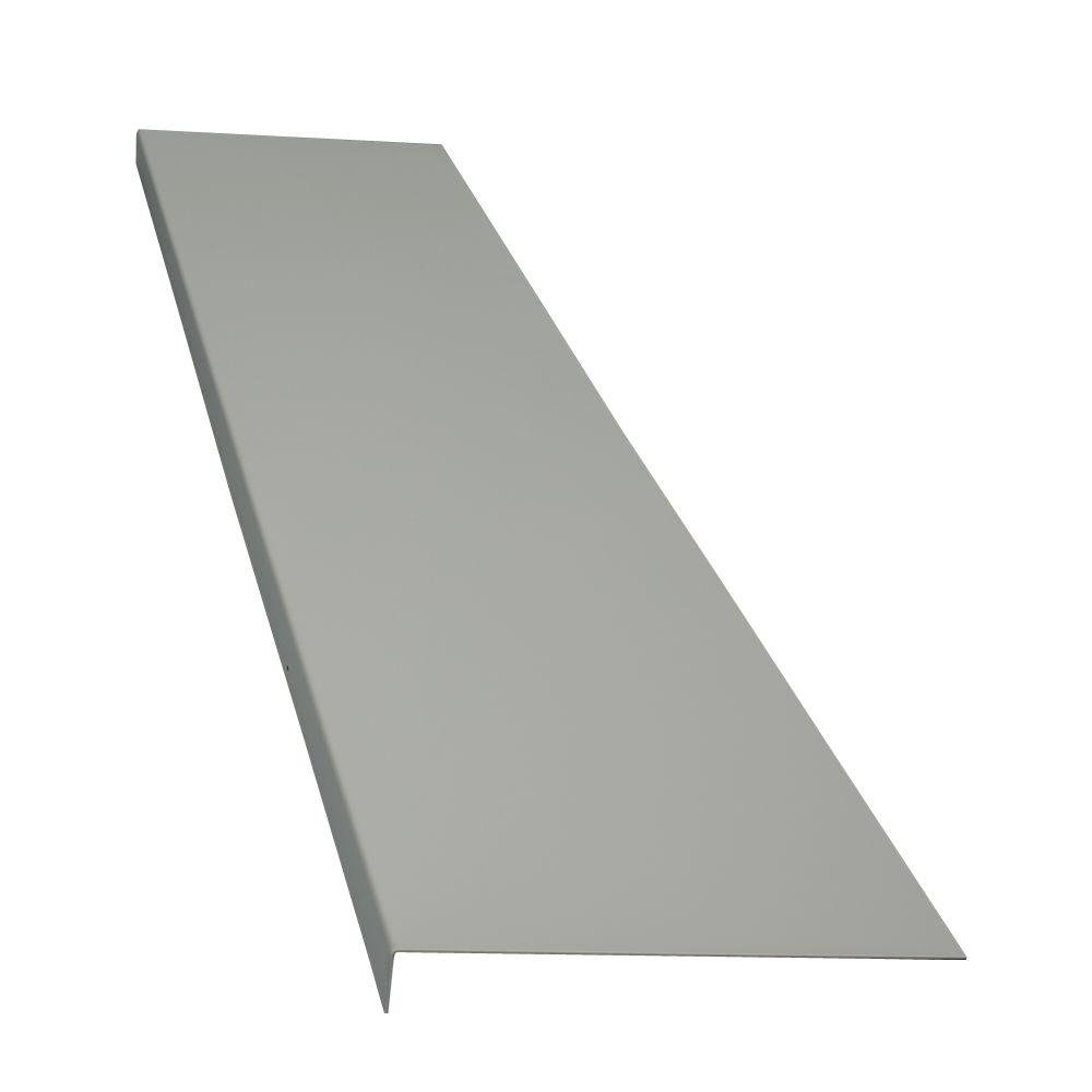 Classic Series 14 in. x 72 in. Light Gray Powder Coat