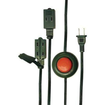 9 ft. 3-Outlet Foot Switch Extension Cord