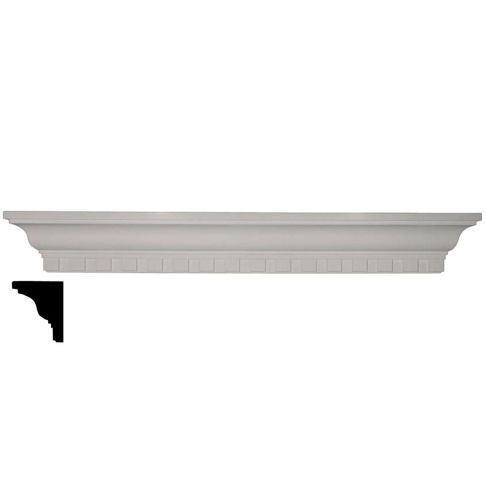 4-1/8 in. x 36 in. x 4-1/2 in. Polyurethane Dentil Shelf