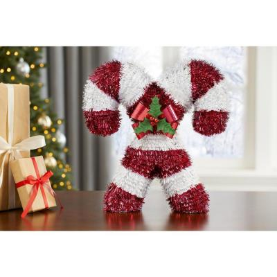 12 in. 3D Table Top Tinsel Candy Canes