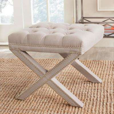 Patrice Taupe Accent Ottoman