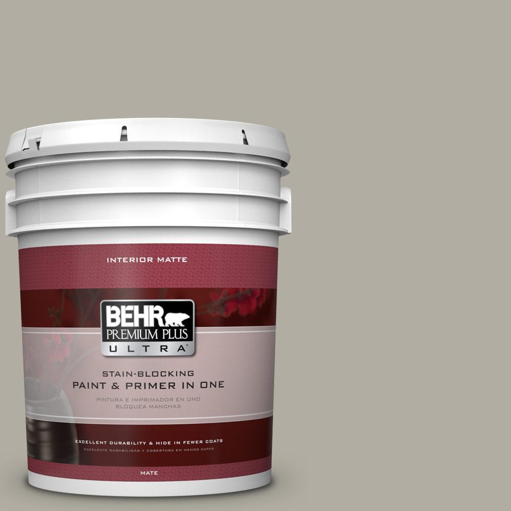 BEHR Premium Plus Ultra 5 gal. #790D-4 Granite Boulder Flat/Matte Interior Paint