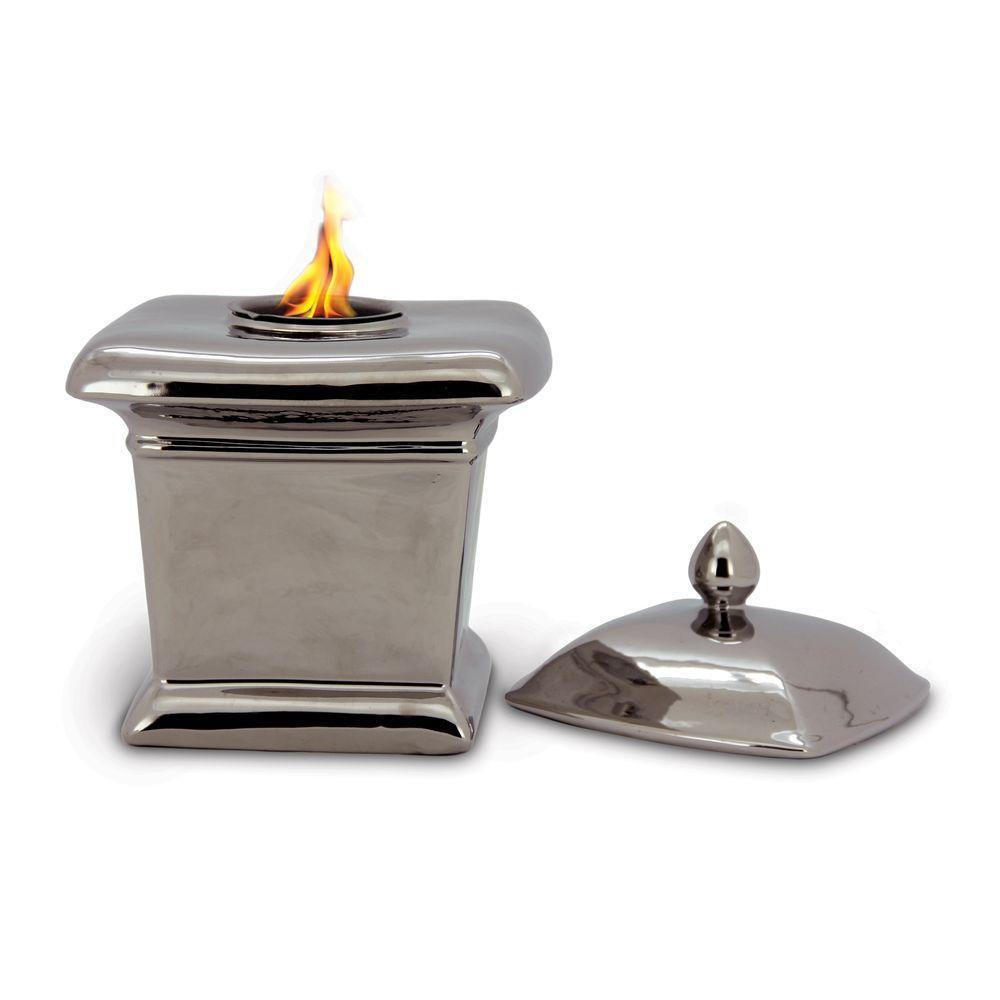 Pacific Decor Milano Fire Pot in Silver-DISCONTINUED