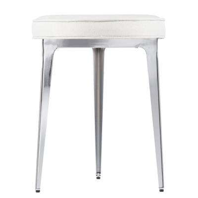 Mindel 19 in. Glam Chrome Small Space Stool