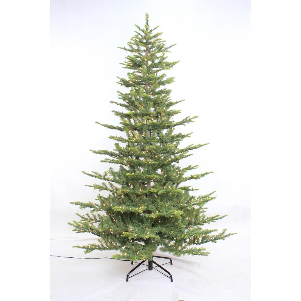 Puleo International Puleo International 7.5 ft. Aspen Fir Artificial Christmas Tree with 700 Warm White Lights