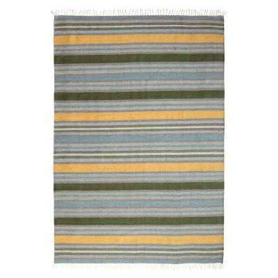 Lori Wool Tropical Blue 5 ft. x 7 ft. Area Rug