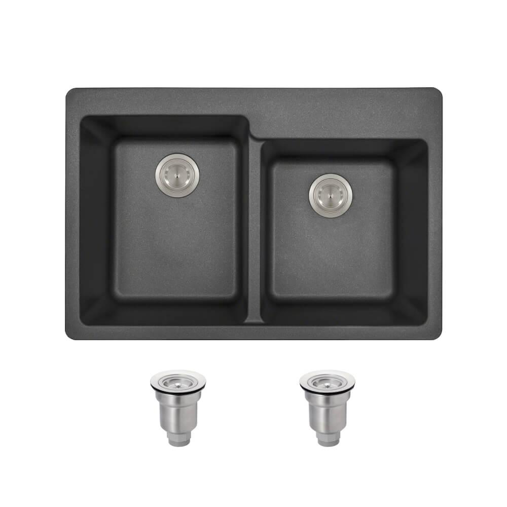 Kitchen Sink Offset From Window: MR Direct All-in-One Drop-in Granite Composite 33 In. 4