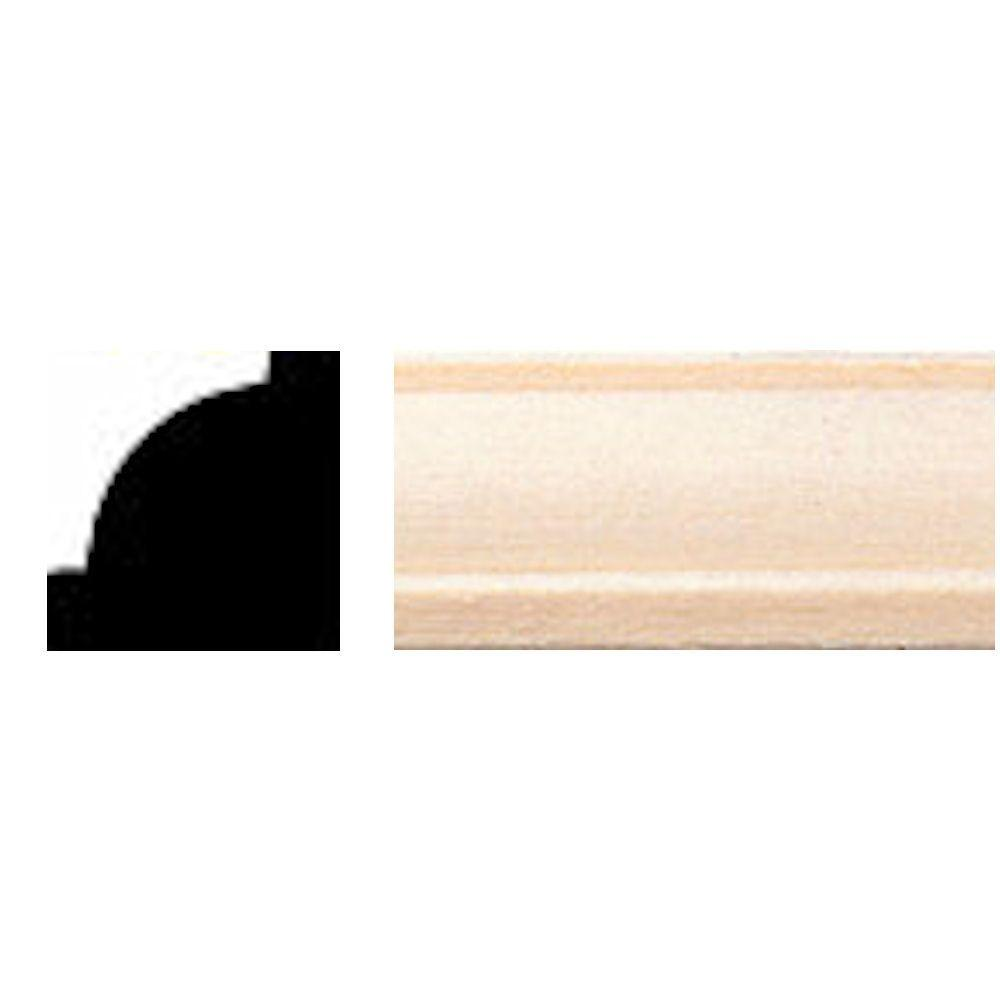 House of Fara 5/8 in. x 4 in. Hardwood Base Moulding-739 - The Home ...