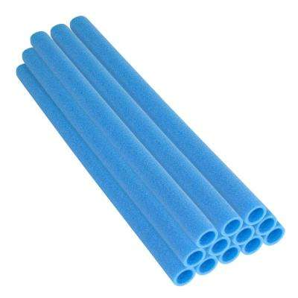 33 in. Blue Trampoline Pole Foam Sleeves Fits for 1.5 in. Dia Pole (Set of 12)
