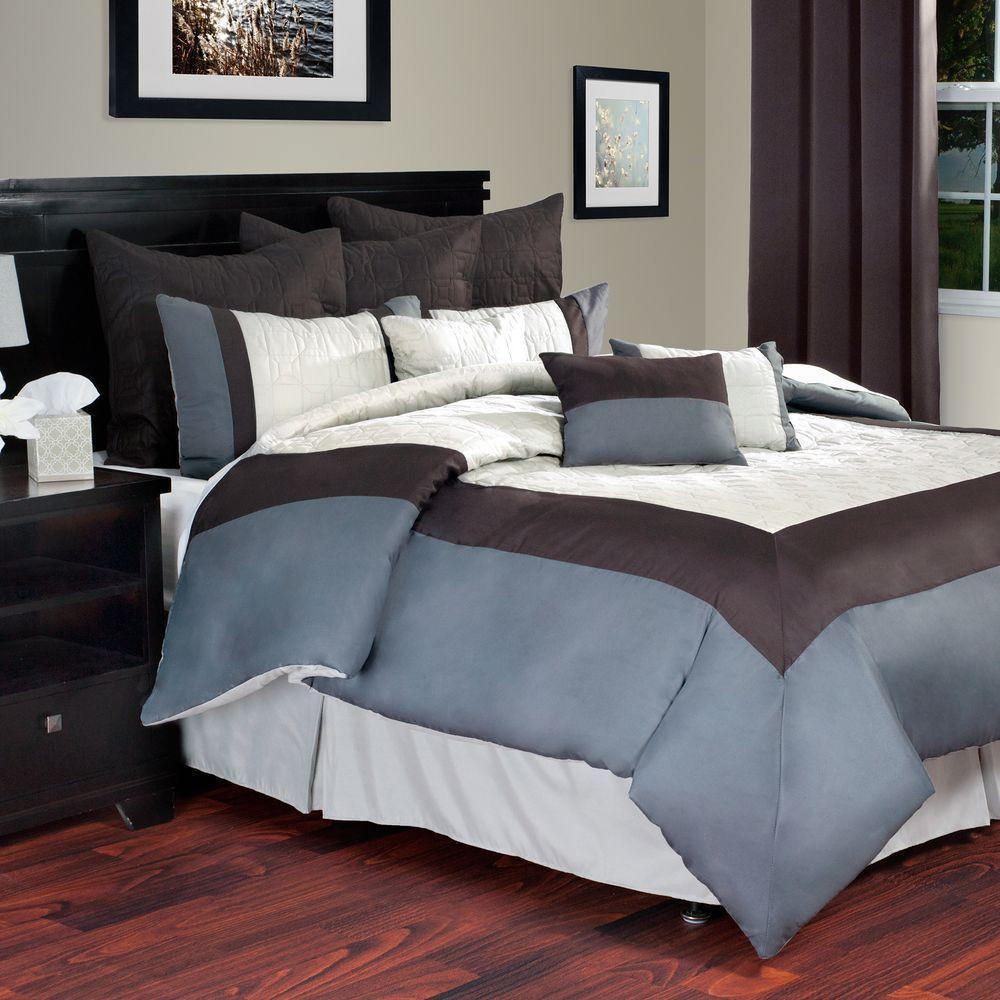 Hotel 10-Piece Ivory King Comforter Set