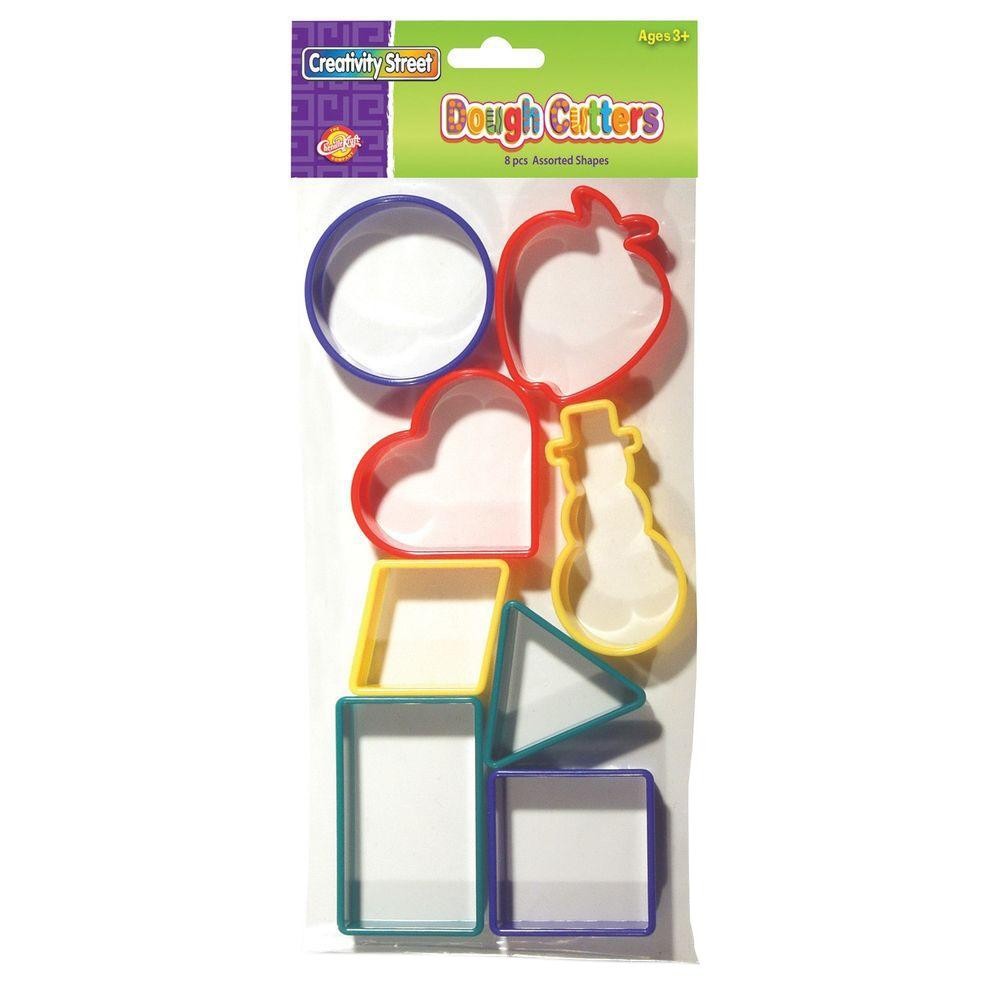 Shapes Dough Cutters Assorted - Plastic 8-Piece