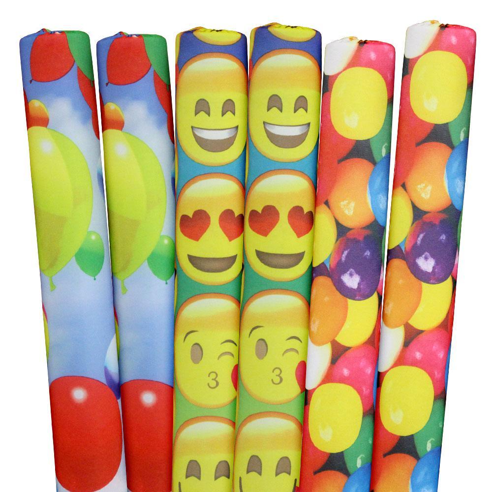 Emojis, Gumballs, Balloons Pool Noodles (6-Pack)