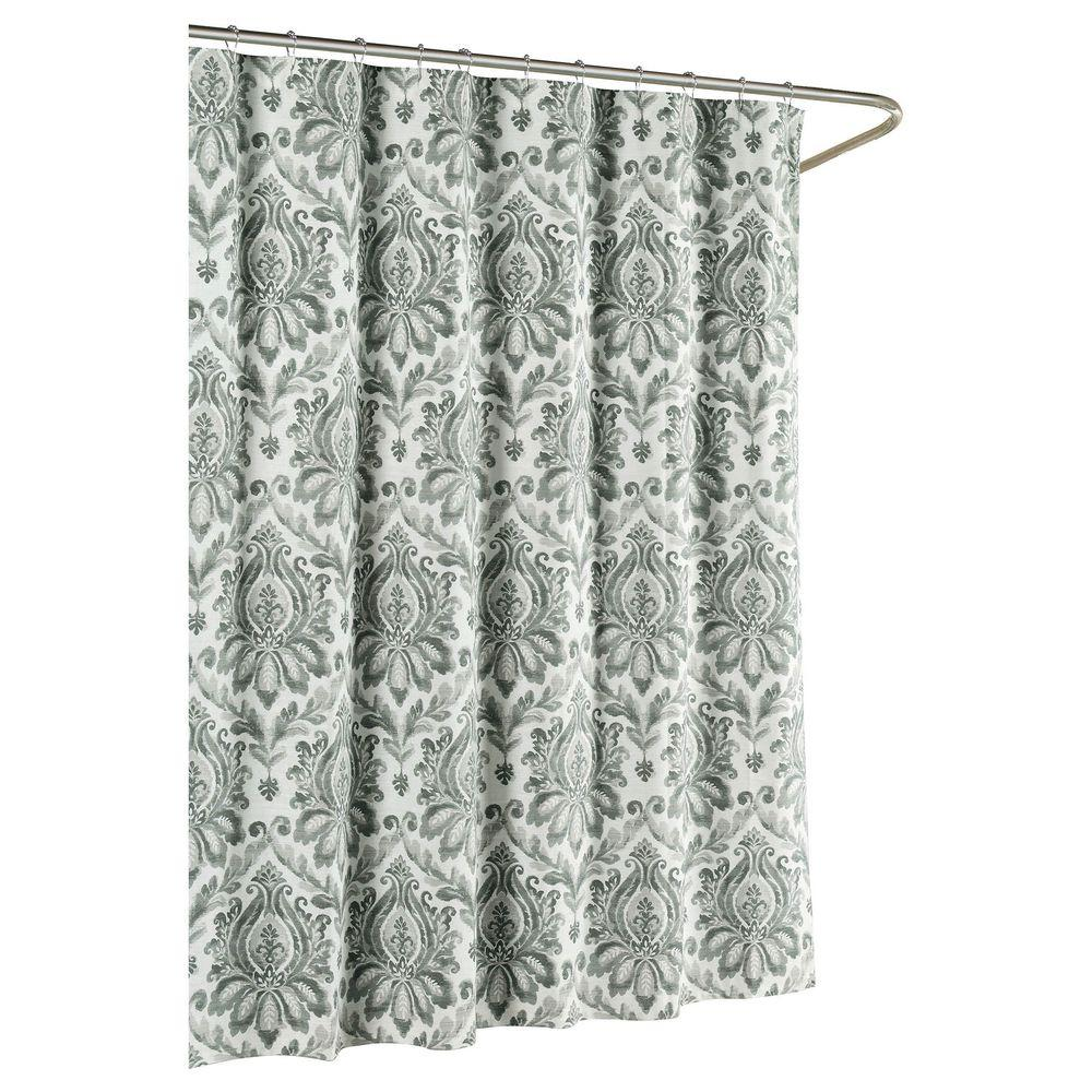 shower ideas gray quatrefoil dark of black and curtains by curtain grey