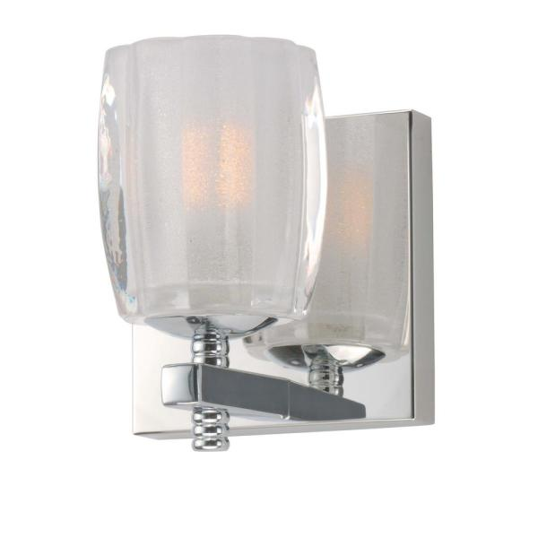 Bravado 4.75 in. Wide Polished Chrome Sconce