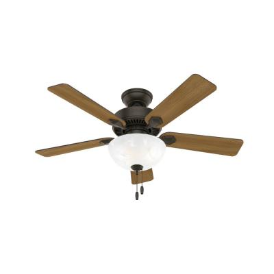 Swanson 44 in. Integrated LED Indoor New Bronze Ceiling Fan with Bowl