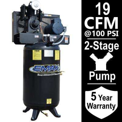 Industrial Series 80 Gal. 5 HP 1-Phase Electric Air Compressor