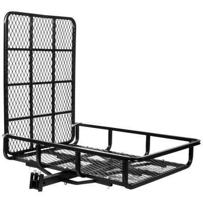 500 lbs. Capacity Universal Folding Ramp-Style Hitch Mounted Cargo Carrier with 2 in. Receiver Shank