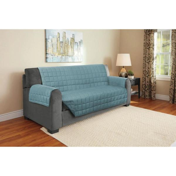 Blue Suede Relaxed Fit Sofa Furniture Protector (1-Piece)