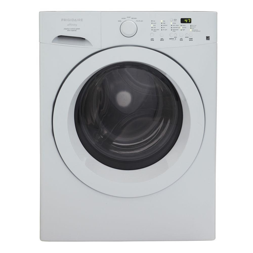 Frigidaire Affinity 3.26 cu. ft. High-Efficiency Front Load Washer in White, ENERGY STAR