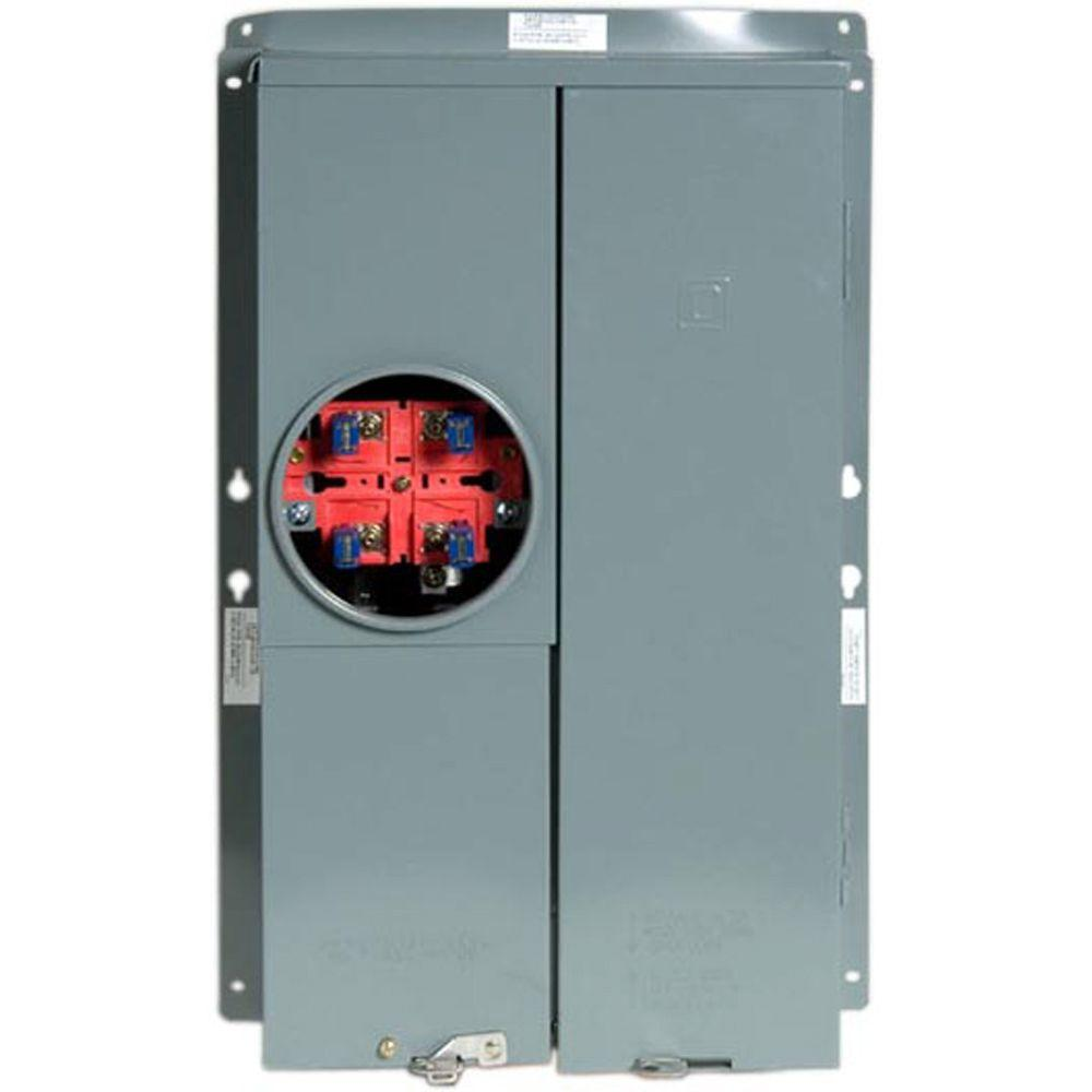 100 Amp 16-Space 24-Circuit Meter Socket Main Breaker Load Center CSED Outdoor