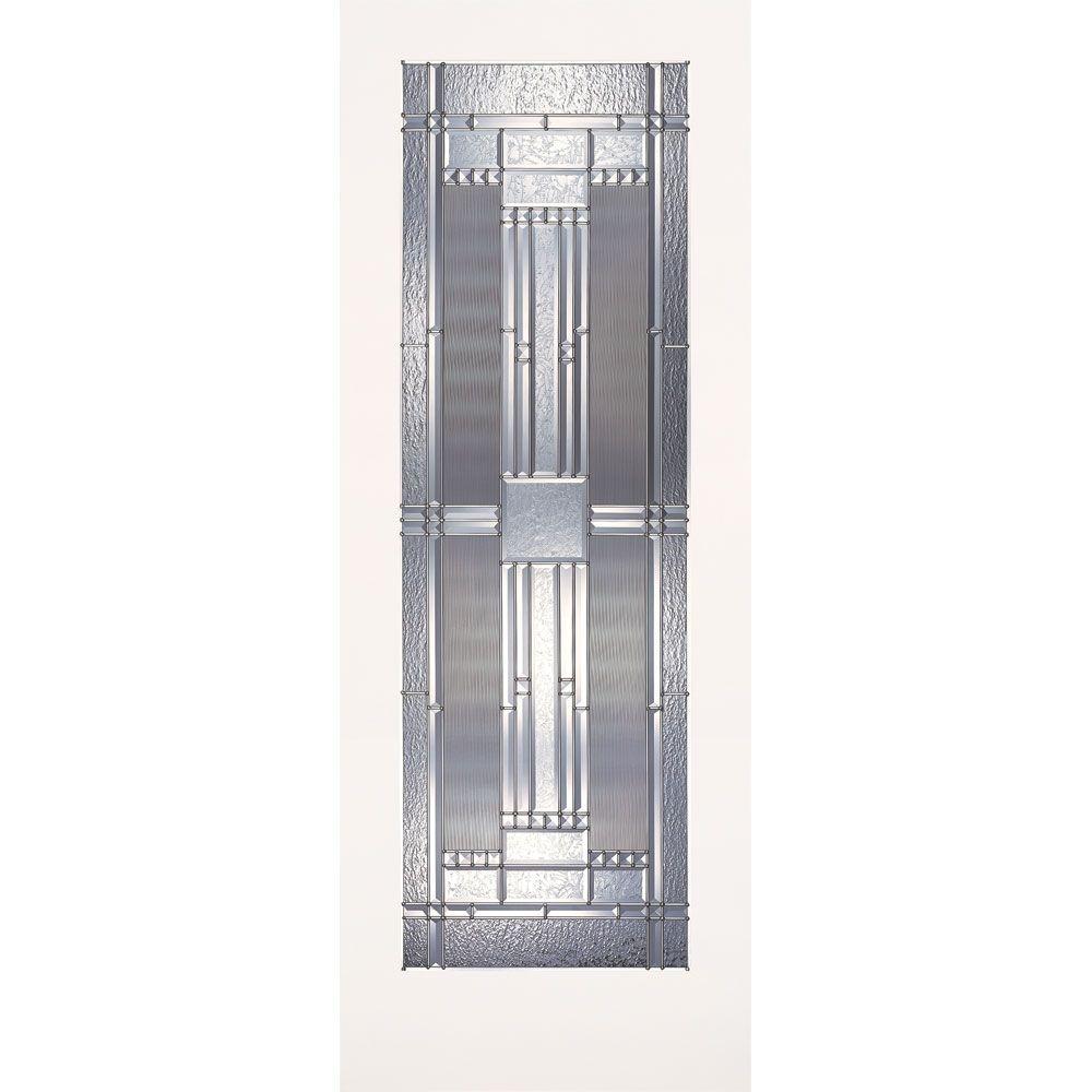 Feather River Doors 36 in. x 80 in. 1 Lite Preston Zinc Smooth Primed MDF Interior Door Slab
