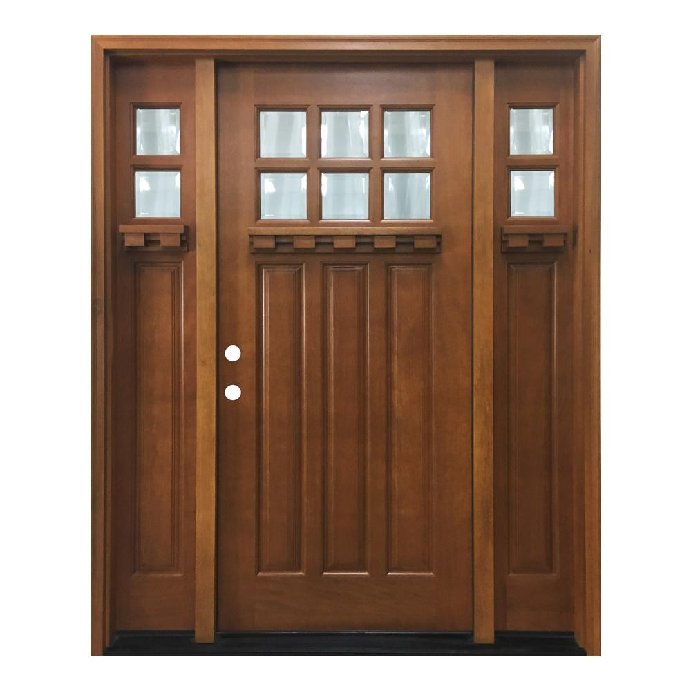 60 in. x 80 in. Craftsman Bungalow 6 Lite Right-Hand Inswing Wheat  sc 1 st  The Home Depot & 60 x 80 - Front Doors - Exterior Doors - The Home Depot