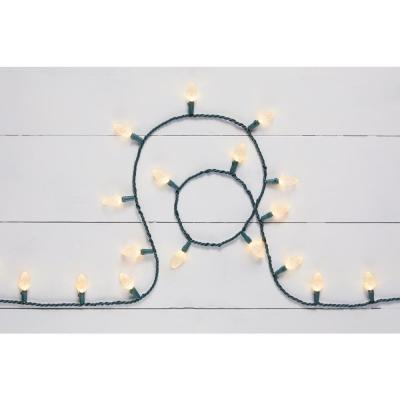 16.33 ft. 50-Light Warm White LED C6 Light String
