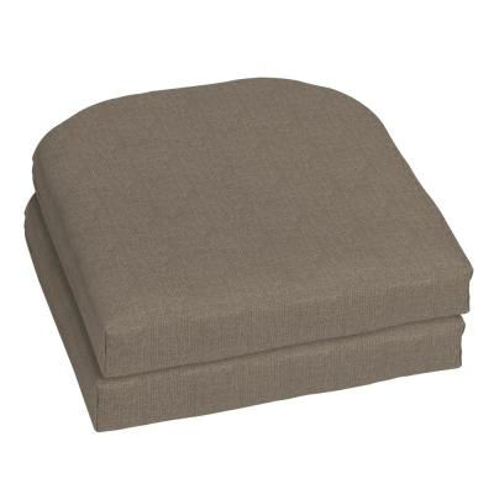18 x 18 Sunbrella Cast Shale Outdoor Chair Cushion (2-Pack)