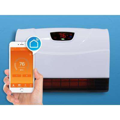 1,500-Watt Wi-Fi Smart Heater Deluxe Indoor Floor to Wall Infrared Heater