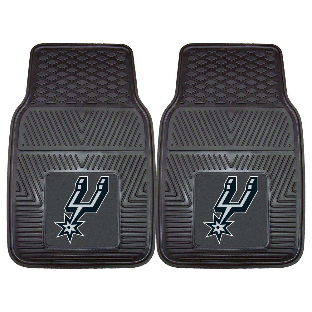 FANMATS San Antonio Spurs 18 in. x 27 in. 2-Piece Heavy Duty Vinyl Car Mat