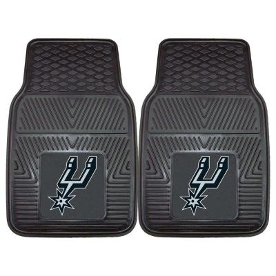 San Antonio Spurs 18 in. x 27 in. 2-Piece Heavy Duty Vinyl Car Mat