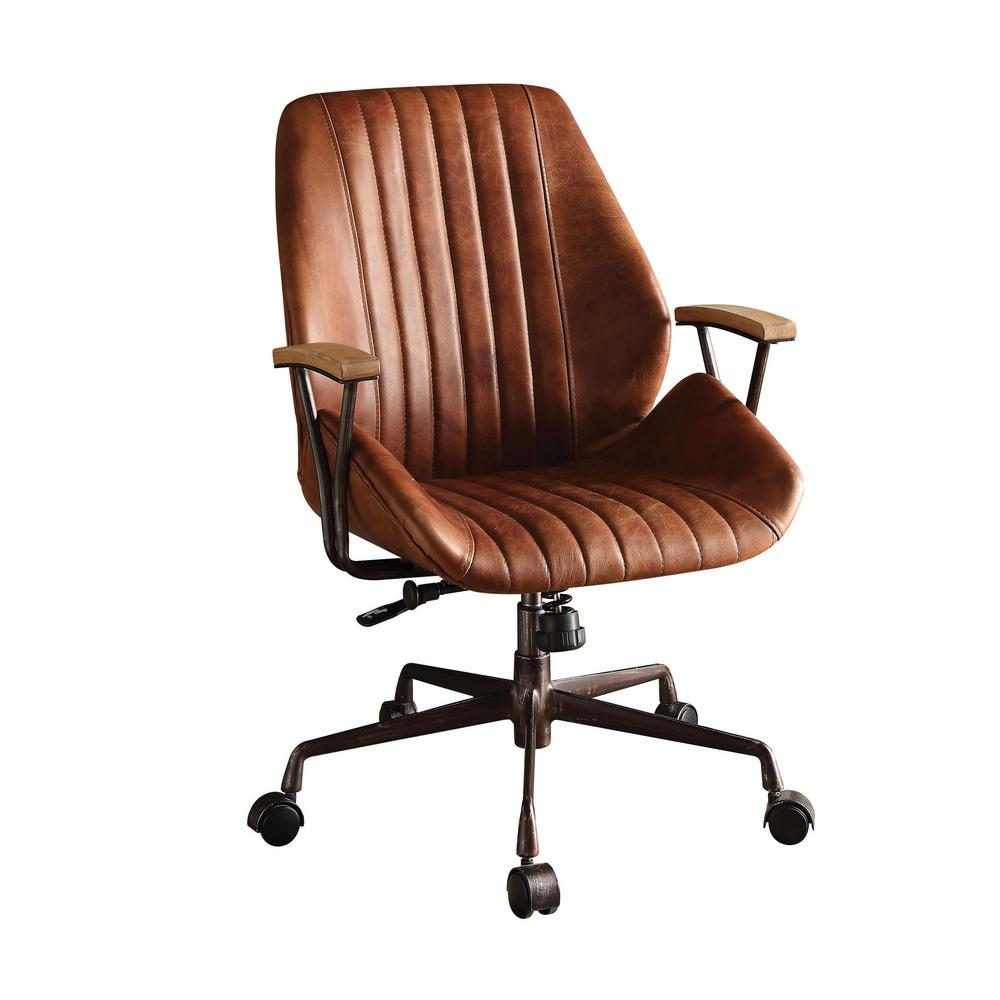 Acme Furniture Hamilton Cocoa Leather Top Grain Office Chair