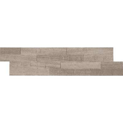 Gray Oak Splitface Ledger Panel 6 in. x 24 in. Marble Wall Tile (10 cases / 60 sq. ft. / pallet)
