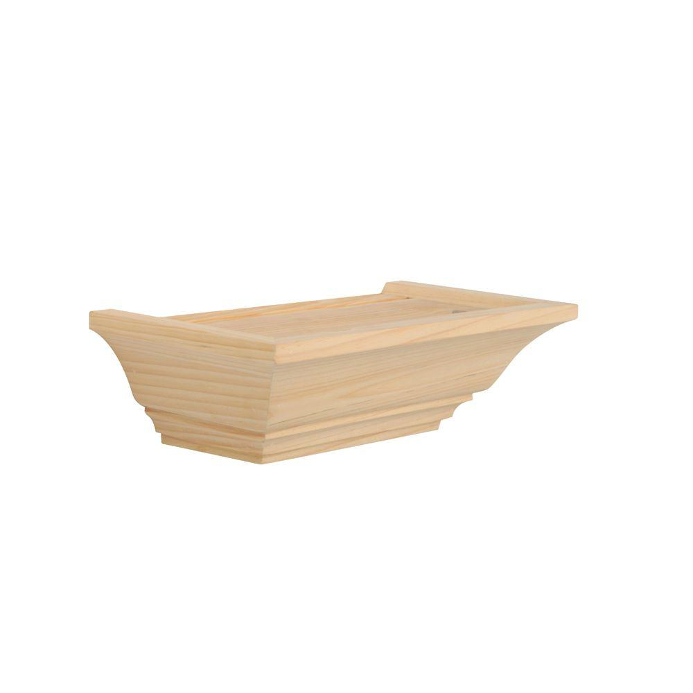 5 in x 10 in floating unfinished mantel decorative shelf kit