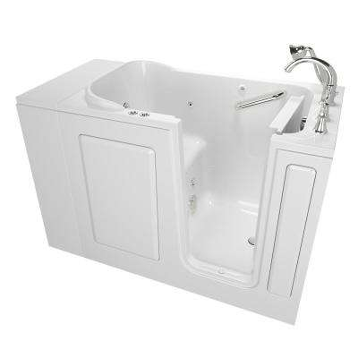 Exclusive Series 48 in. x 28 in. Right Hand Walk-In Whirlpool and Air Bath Tub with Quick Drain in White